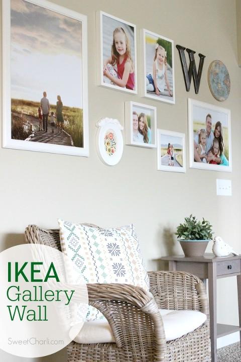 IKEA gallery wall with IKEA frames