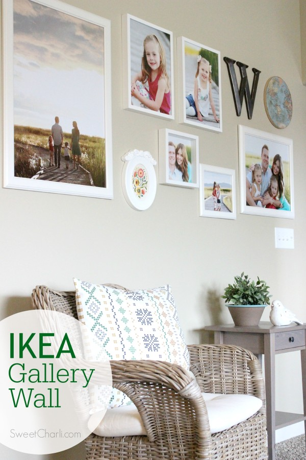 IKEA gallery wall with IKEA frames
