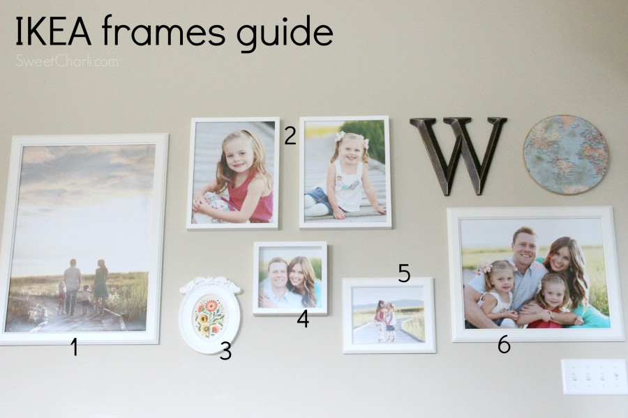 IKEA gallery wall guide with frame sizes