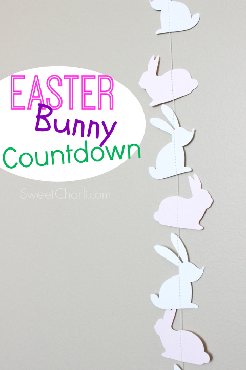 Make your own Easter bunny countdown with paper and thread!