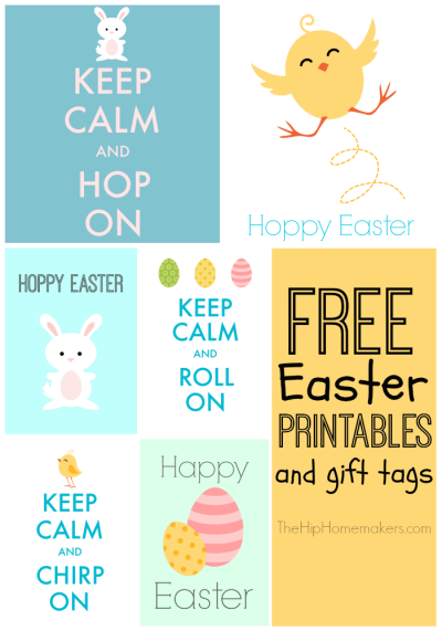 Free Easter printables and cute gift tags