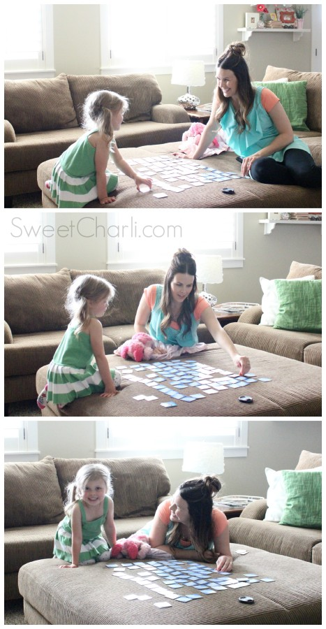 playing matching game