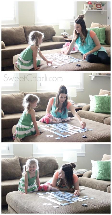 playing matching game