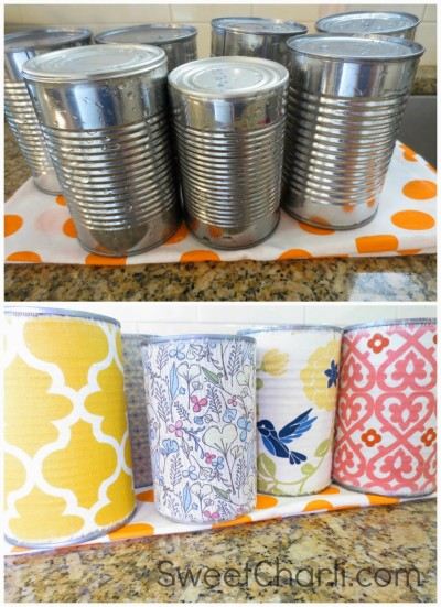 Fabric tin can recycle