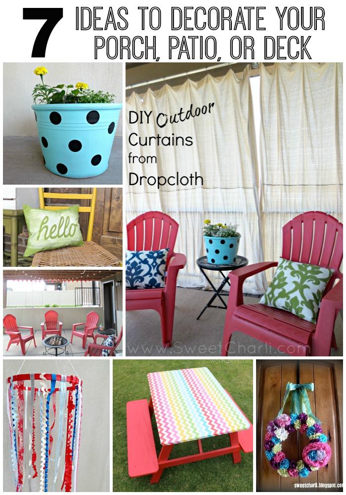 Fun Diy Ideas To Decorate Your Porch Patio Or Deck