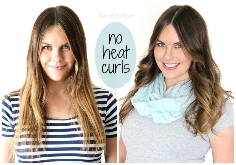 No heat curls using savvy curls