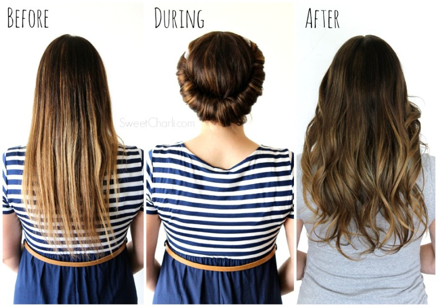 Tutorial for no heat curls