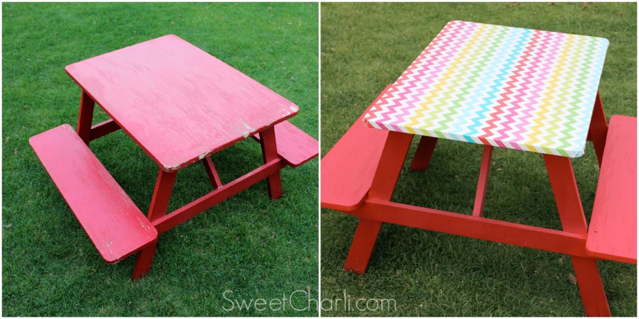 picnic table redo