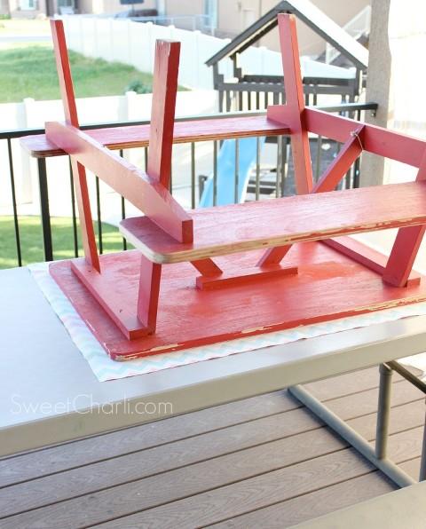 tutorial picnic table redo