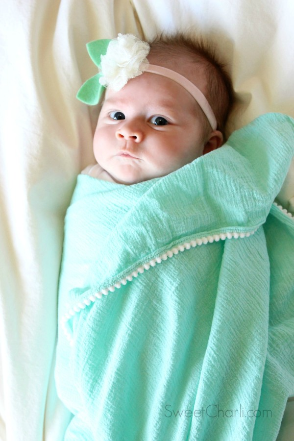 little ewe and me swaddle blanket