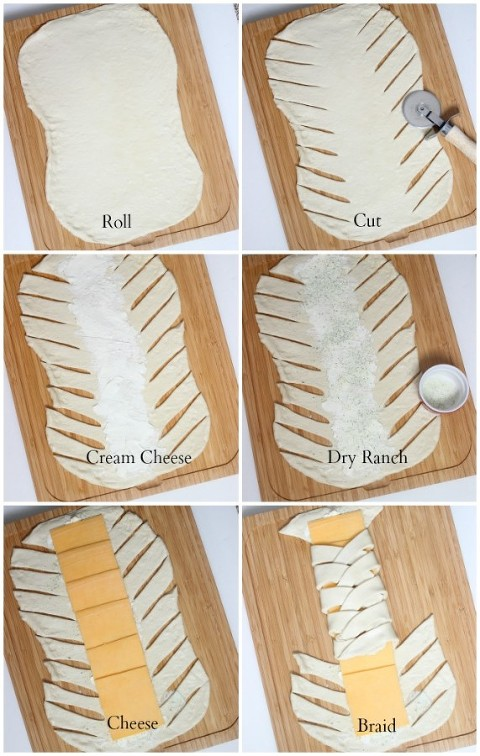 braided ranch grilled cheese