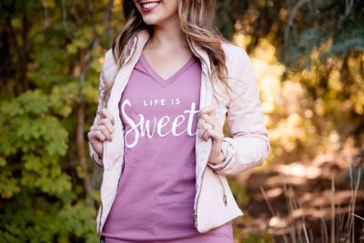 life is sweet graphic tshirt