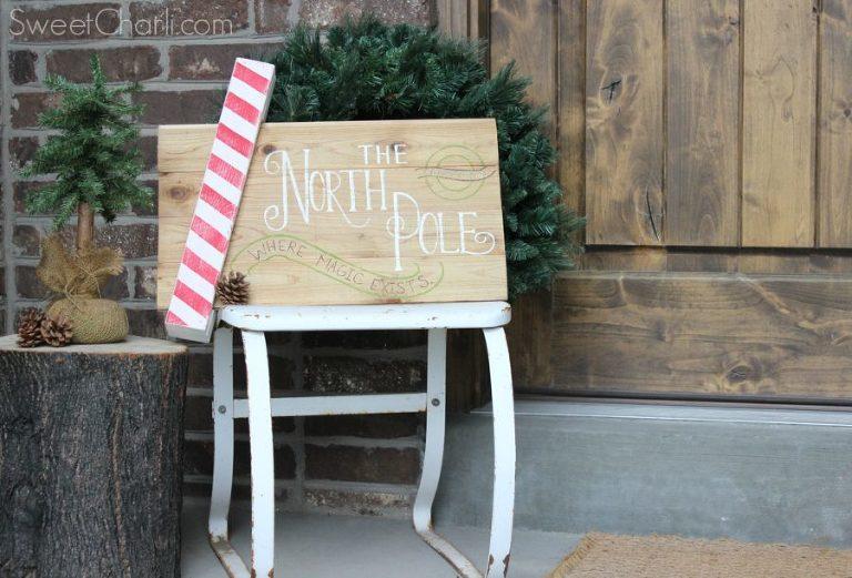 north pole pallet sign