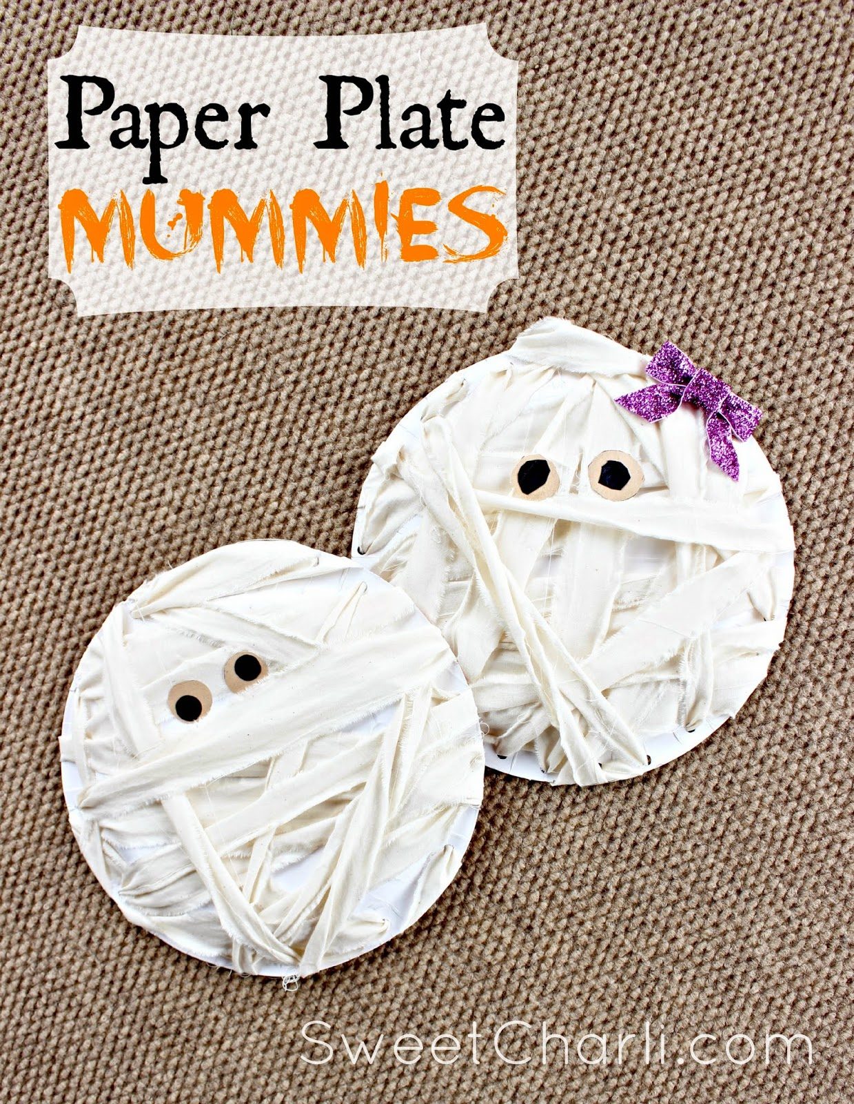 The other day my sweet 5 year old said u201cMom I wanna do a craftu201d! I was so excited! I asked her what kind of craft she wanted to make and she ...  sc 1 st  Sweet Charli & Craft for Kids: Mummies from Paper Plates - Sweet Charli