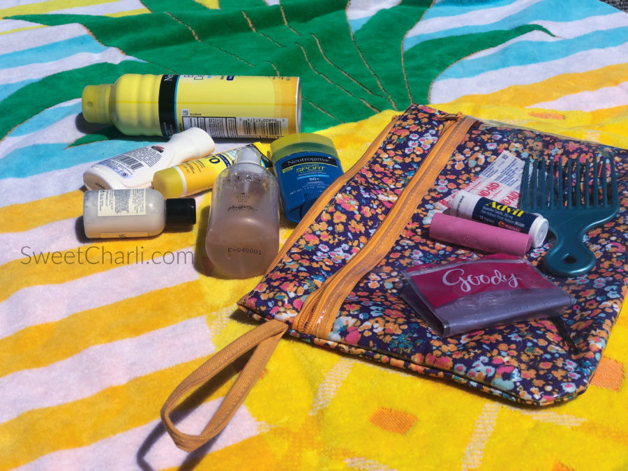 The sun bag and the essentials you need to have in it.